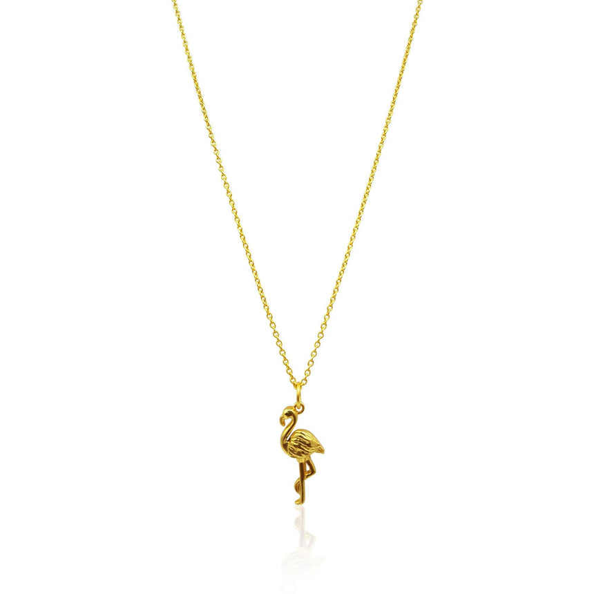 Flamingo Necklace in 18k Gold Vermeil on Sterling Silver - Eliza Bautista