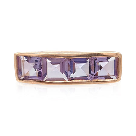 Nadine: Amethyst Ring in 18k Rose Gold Vermeil on Sterling Silver