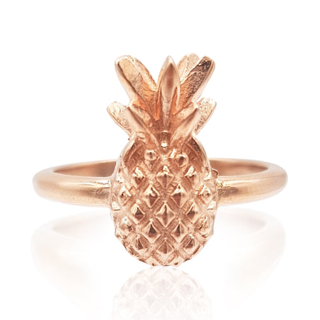 Pineapple Ring in 18k Rose Gold Vermeil on Sterling Silver - Eliza Bautista
