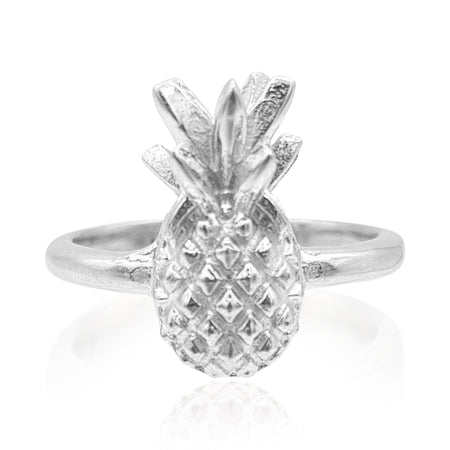 Pineapple Ring in Sterling Silver