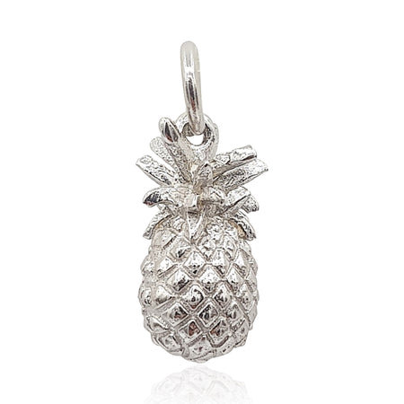 Pineapple 3D Necklace in Sterling Silver - Eliza Bautista