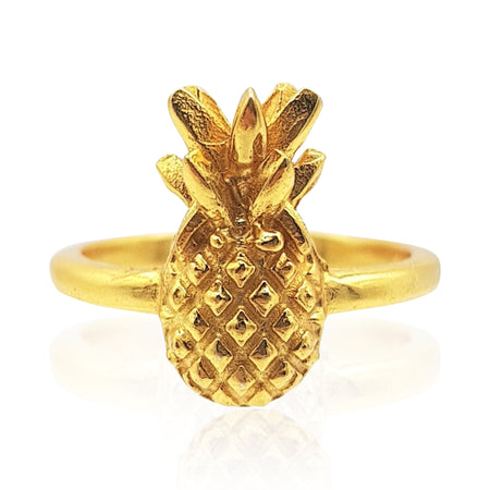 Pineapple Ring in 18k Gold Vermeil on Sterling Silver - Eliza Bautista