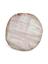 Rose Quartz Coasters with Copper Leaf Edging - Set of 4 - Eliza Bautista