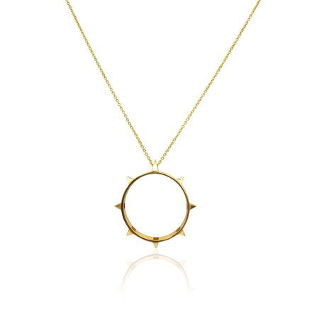 Rock Chic Necklace in Sterling Silver 18k Gold Vermeil on Sterling Silver