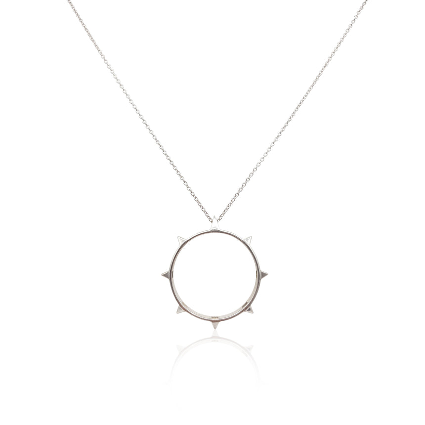 Rock Chic Necklace in Sterling Silver 18k Gold Vermeil on Sterling Silver - Eliza Bautista