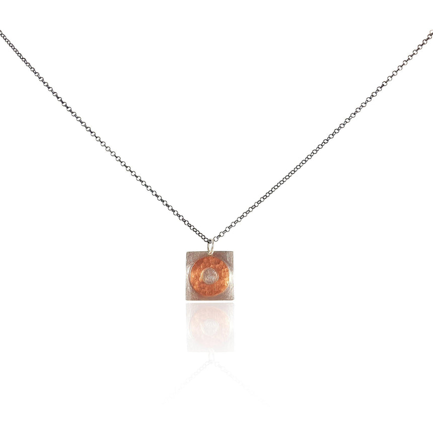 Sterling Silver and Copper Necklace- Small - Eliza Bautista