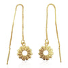 Radial Sunburst Dangling Earrings in 18k Gold Vermeil - Eliza Bautista