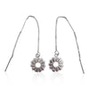 Radial Sunburst Dangling Earrings in Sterling Silver - Eliza Bautista