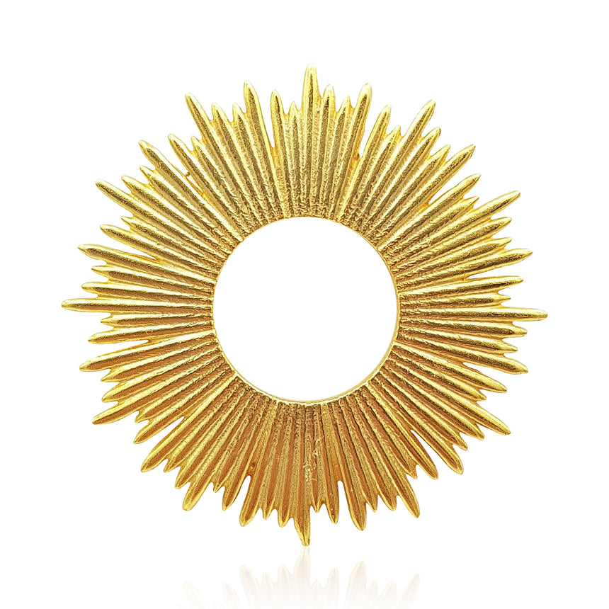 Radial Sunburst Necklace in 18k Gold Vermeil - Medium - Eliza Bautista