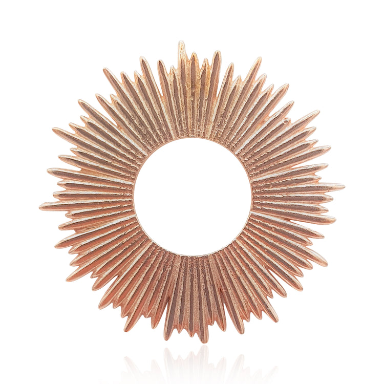 radial sun sunburst sunrays pendant and necklace in sterling silver, gold and rose gold vermeil by eliza bautista jewellery gifts for women