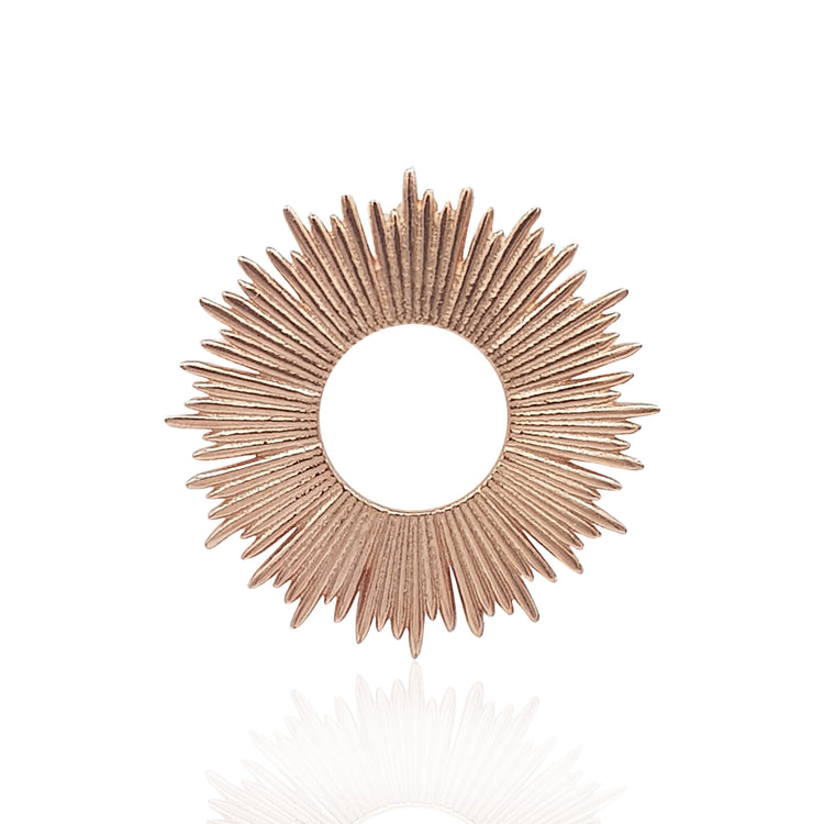Radial Sunburst Necklace in 18k Rose Gold Vermeil - Medium - Eliza Bautista