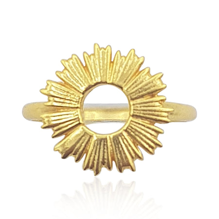 Radial Sunburst Ring in 18k Gold Vermeil - Eliza Bautista