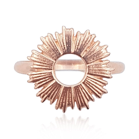 Radial Sunburst Ring in 18k Rose Gold Vermeil - Eliza Bautista
