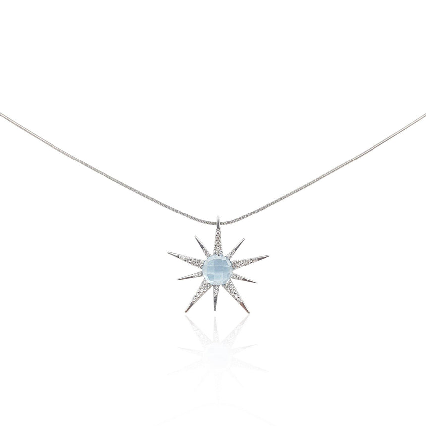 Gemstone Sunburst with Moonstone in 18k Rose Gold Vermeil - Medium - Eliza Bautista