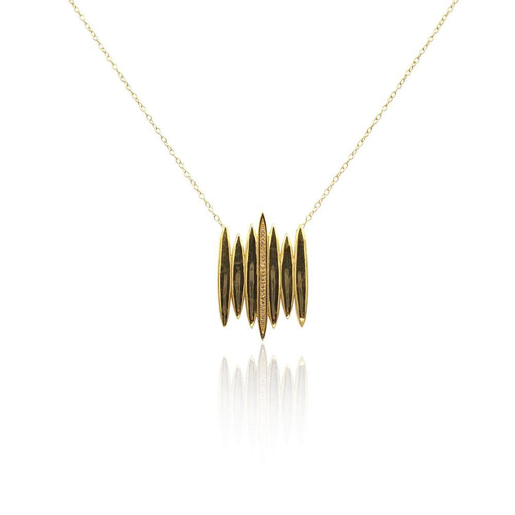 Tallulah Necklace with White Topaz in 18k Gold Vermeil (Smooth)