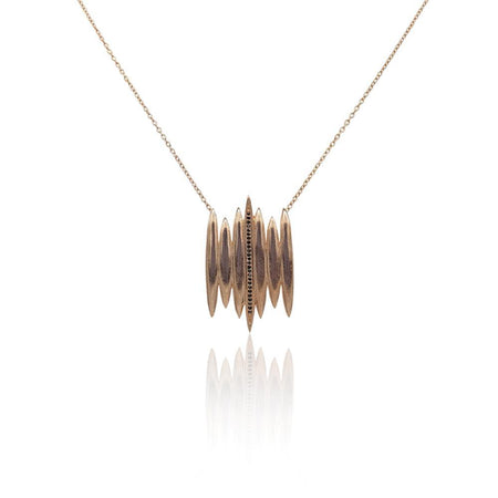 Tallulah Necklace with Black Spinel in 18k Rose Gold Vermeil (Smooth)