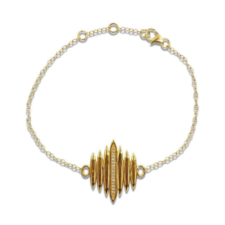 Tallulah Bracelet with White Topaz in 18k Gold Vermeil