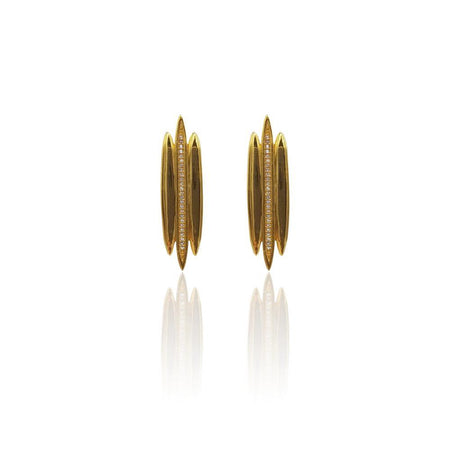 Tallulah Earrings with White Topaz in 18k Gold Vermeil