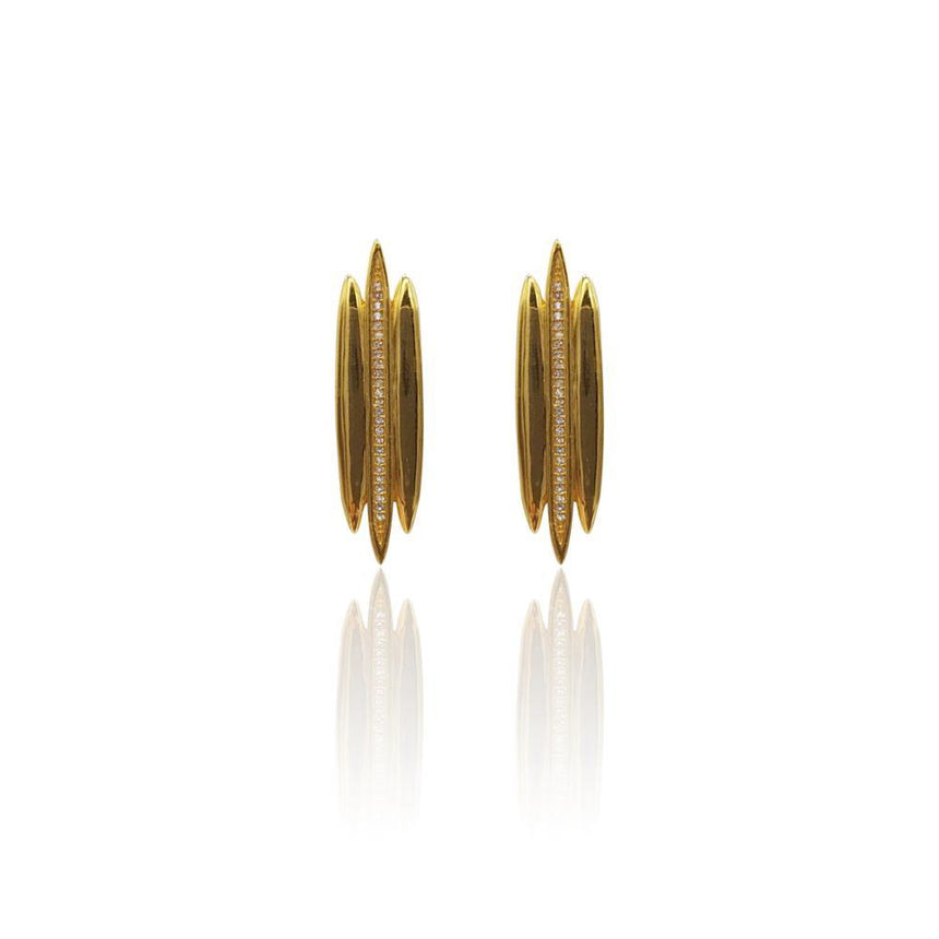 Tallulah Earrings with White Topaz in 18k Gold Vermeil - Eliza Bautista