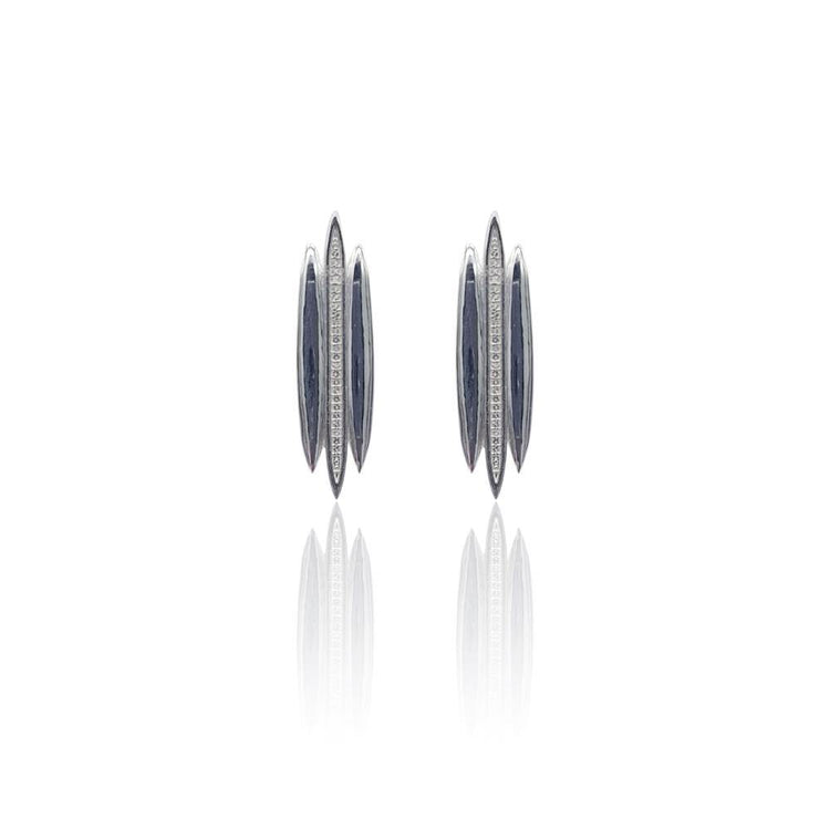 Tallulah Earrings with White Topaz in Sterling Silver