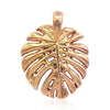 Tropical Leaf Necklace in 18k Rose Gold Vermeil on Sterling Silver - Eliza Bautista