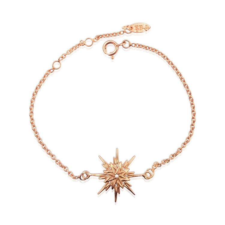 Astral Sunburst Bracelet in 18k Rose Gold Vermeil on Sterling Silver - Eliza Bautista