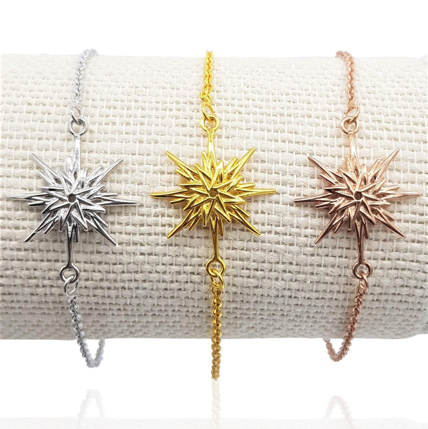 Astral Sunburst Bracelet in 18k Gold Vermeil on Sterling Silver - Eliza Bautista