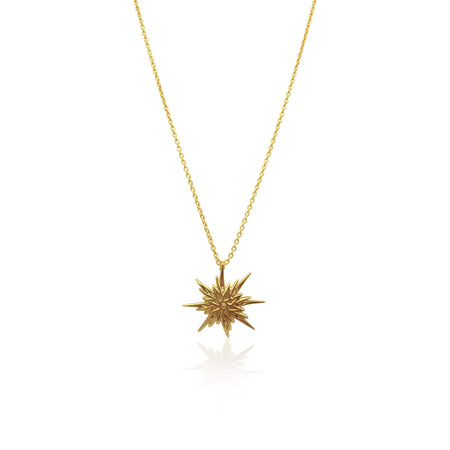 Astral Sunburst Necklace in 18k Gold Vermeil on Sterling Silver - Eliza Bautista