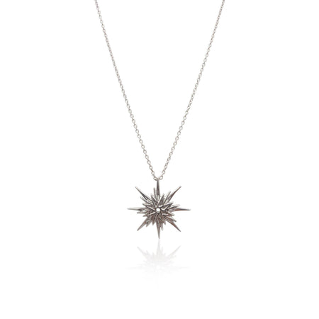 Astral Sunburst Necklace in Sterling Silver