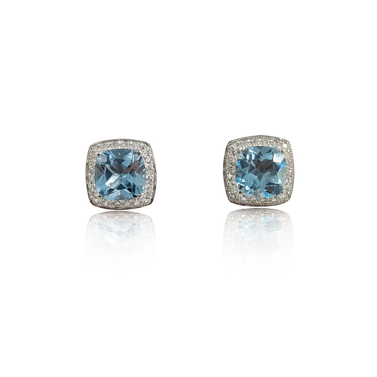 Blue & White Topaz Earrings - Eliza Bautista