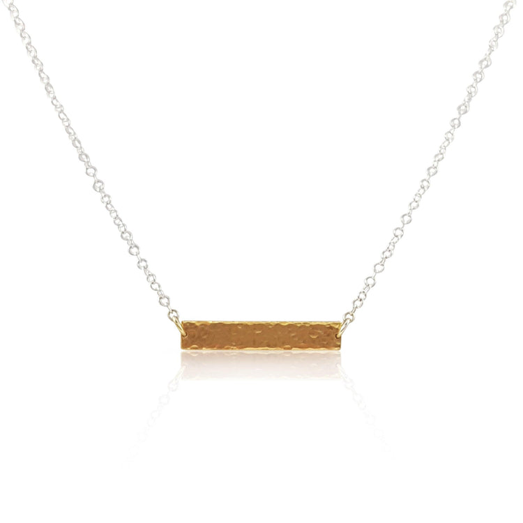 Hammered ID Tag Necklace - Gold Vermeil - Eliza Bautista Jewellery