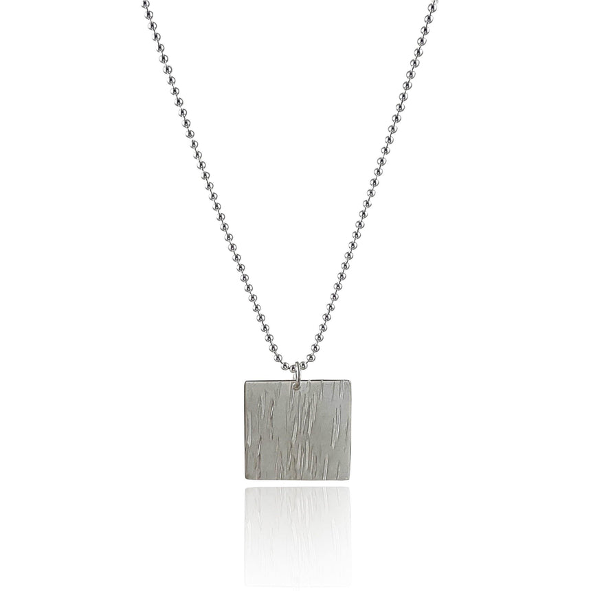 Bamboo Sterling Silver Pendant - Large - Eliza Bautista