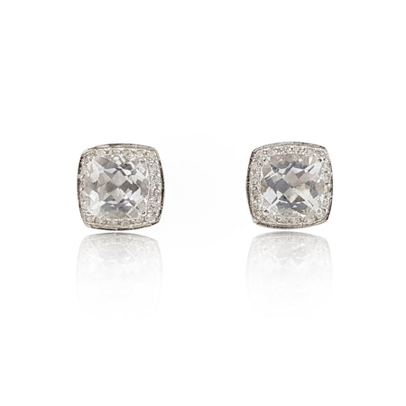White Topaz Earrings - Eliza Bautista