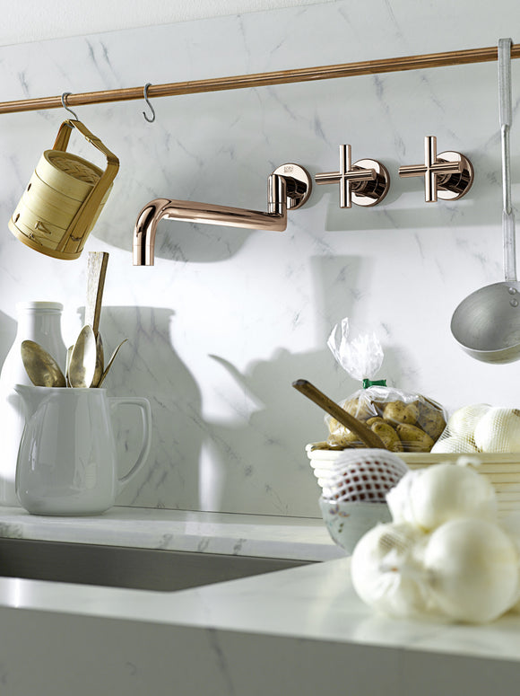 Blush taps in Bathrooms and kitchens