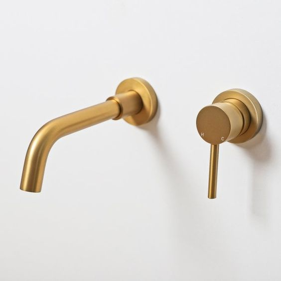 2021 Deep Burnished Gold Brushed mixer WELS WaterMark  round taps wall faucet basin