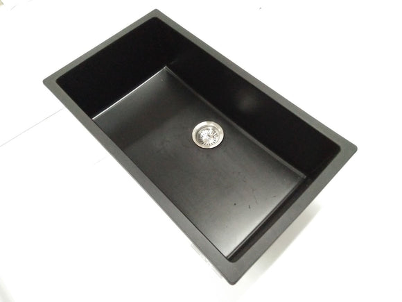 838 mm stone blackTOPMOUNT OR UNDERMOUNT KITCHEN dsingle SINK  in stock now