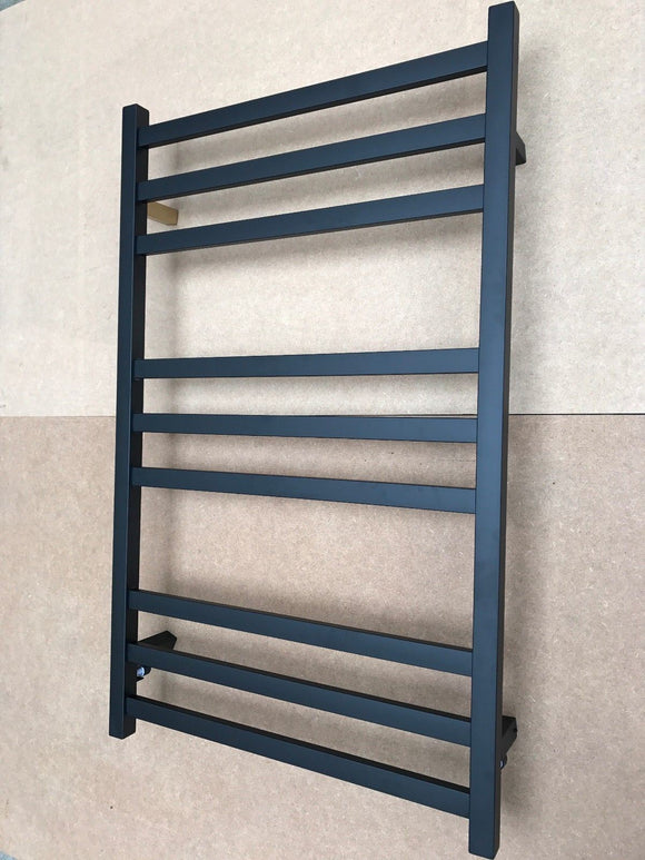 Matte Black Heated 304 stainless steel Towel Rack 9 Bars hard wired AU standard