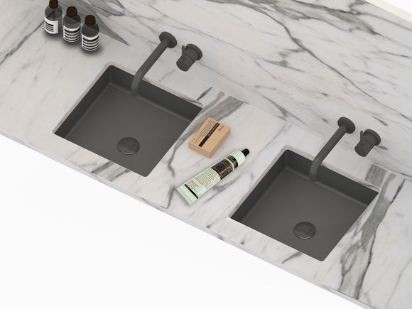 Ultra Modern burnished rose gold brass gold gunmetal black stainless steel basin