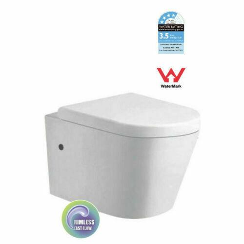 In Wall Hung Concealed Cistern Toilet matte white Pan rimless s/s steel buttons
