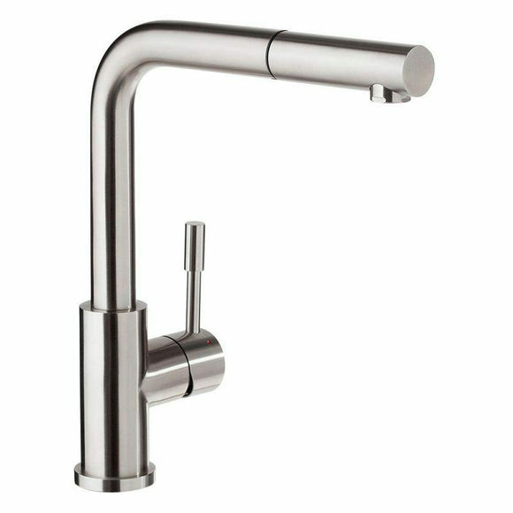 Brushed solid stainless steel NO Lead Pull Down spray function kitchen tap mixer