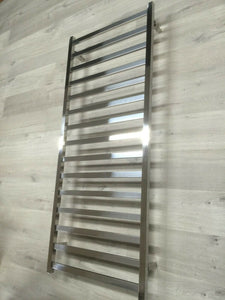 Chrome Polished Heated 304 stainless steel Towel Rack ladder rail 110 volt USA