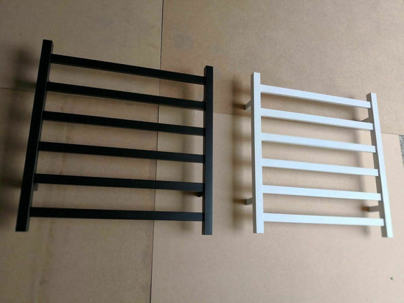 Matte Black  NON Heated Towel Rail rack  square  620 mm wide 650 h matte white