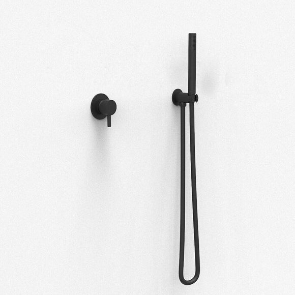 New matte black burnished brass gold rose gold wall mixer hand held shower set