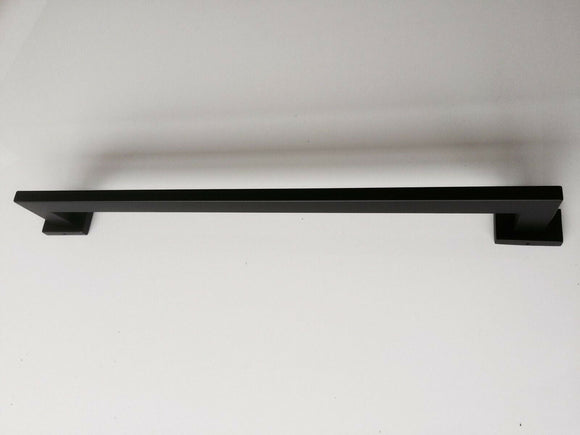 matte black towel Rack rail square modern single 600 mm wall mount
