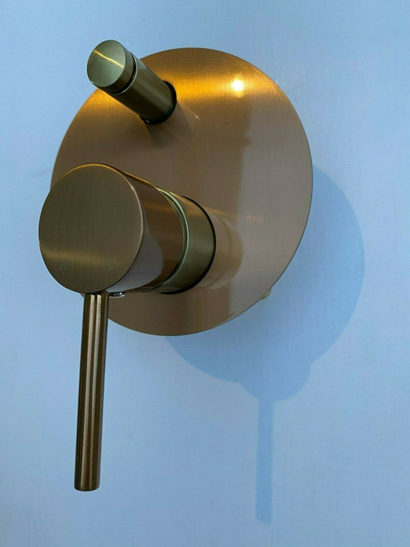 Watermark Brushed rose gold copper shower set 200 mm wall arm deverter hand held
