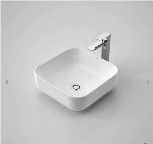 Gloss white square basin porcelain ceramic square 390*390*140 mm top counter