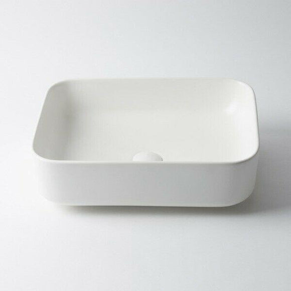Ultra Modern white basin porcelain ceramic square 500*390*140 mm on top counter