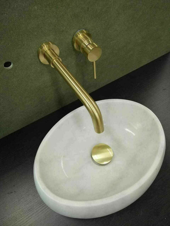 New Shower Bath basin Burnished brass gold  wall mixer tap faucet WELS watermark