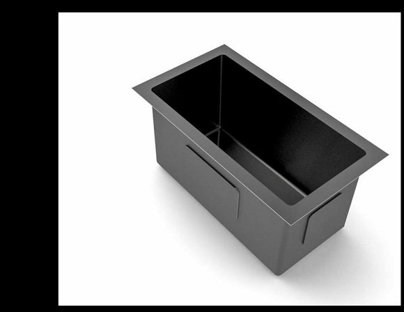 New Burnished gunmetal black stainless steel kitchen sink R10 hand made pantry