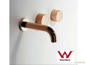 Bath basin  wall 1/4 turn hot cold tap faucet WELS rose gold spout 150 mm 200 mm